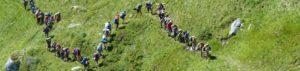 Scouts du Vieux-Mazel en zig-zag dans la montagne