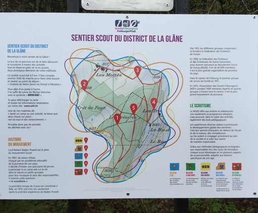 sentier scout du district de la Glâne